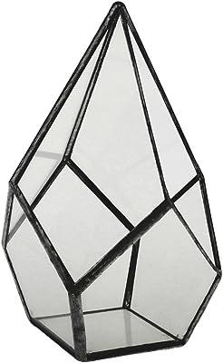 Klarglas Metall Diamant Geometrisch Terrarium Sukkulenten Pflanzgefäß Topf