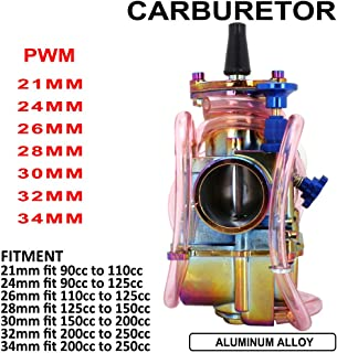 Motorrad Vergaservergaser, 28 mm, für Honda Suzuki Kawasaki Yamaha 125 cc bis 150 cc ATV Dirtbike (Mehrfarbig)