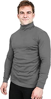 Utopia Wear Premium Cotton Blend Interlock Turtleneck Men T-Shirt