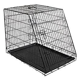 Kerbl Slanted Front Dog Cage Collapsible 2 Doors