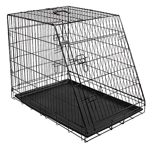 Kerbl 81367 Gittertransportbox, klappbar, 76 x 54 x 64 cm, 2 Türen, schwarz
