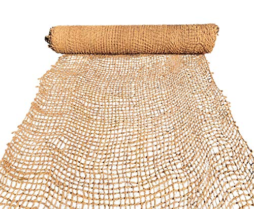 Sandbaggy Coir Mat - 165 ft L by 4 ft Width - Lasts 2-5 Yrs - Erosion Control Product for Stopping Soil Erosion on Hillsides, Riverbanks and Oceanfront - Lasts 5X Longer Than Straw Blanket (1 Roll)