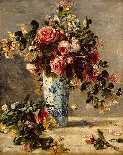 Das Museum Outlet–Rosen und Jasmin in einer Delfter Vase, 1890–91–Poster Print Online kaufen (101,6x 127cm)