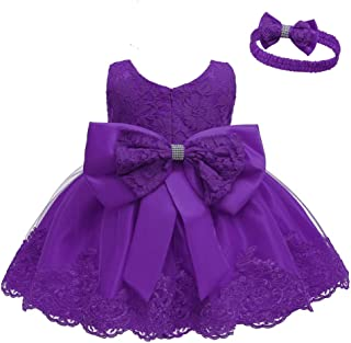 Baby Dress, Flower Lace Dresses Bowknot Pageant Party Wedding Flower Girl Tutu Gown