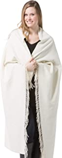 Fishers Finery 100% Cashmere Throw Blanket; Warm and Comfortable (Stone)