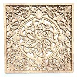 12' 12' or 30CM Carved Wood Wall Hanging Panel Art Project Sculpture Square F115 30cm