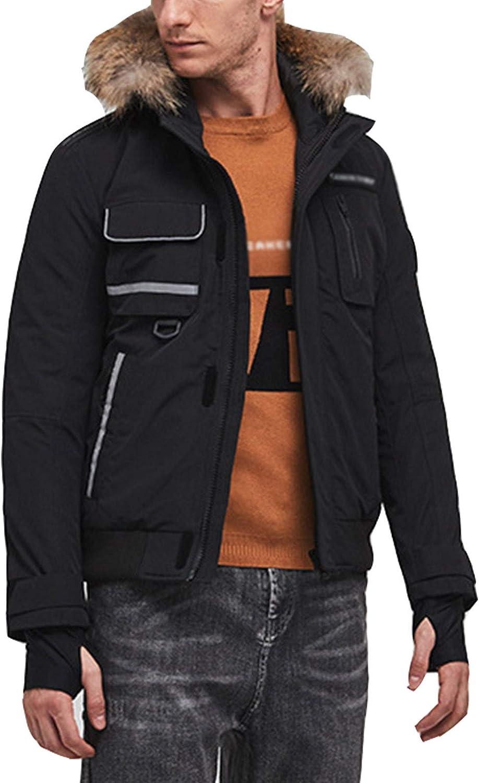 DUTUI Men's Winter Down Jacket, 80% White Duck Down Short Thick Down Jacket Casual Workwear Men's and Women's Warm Down Jacket,Black,3XL