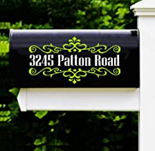 Custom Street Address Decal Sticker for Mailboxes (Set of 2 Decals) Glossy Vinyl Color Options