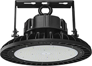 UFO LED High Bay Light 240W, 33600Lm(1000W HID/HPS Equivalent) 5000K Daylight, 1~10V Dimmable, UL&DLC Industrial Commercial Bay Lighting for Warehouse Garage Shop - Mounting Bracket Free Included