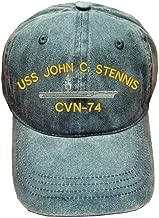 USS John C. Stennis CVN-74 Ship Military 100% Wash Cotton Hat Blue