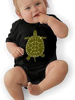 Infant Baby Girl Boys Native American Turtles Short Sleeve Bodysuit, Printed Cotton Bodysuit Romper Jumpsuit