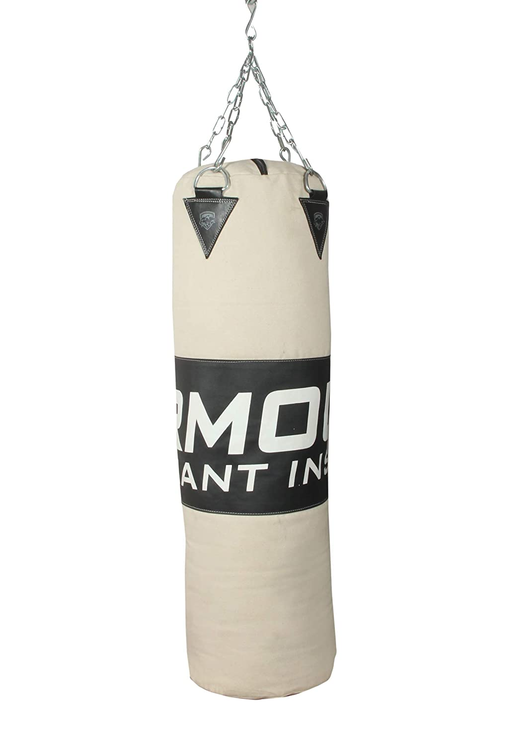"""48/"""" PUNCHING BAG WITH CHAINS Sparring MMA Boxing Training Canvas Heavy Duty"""