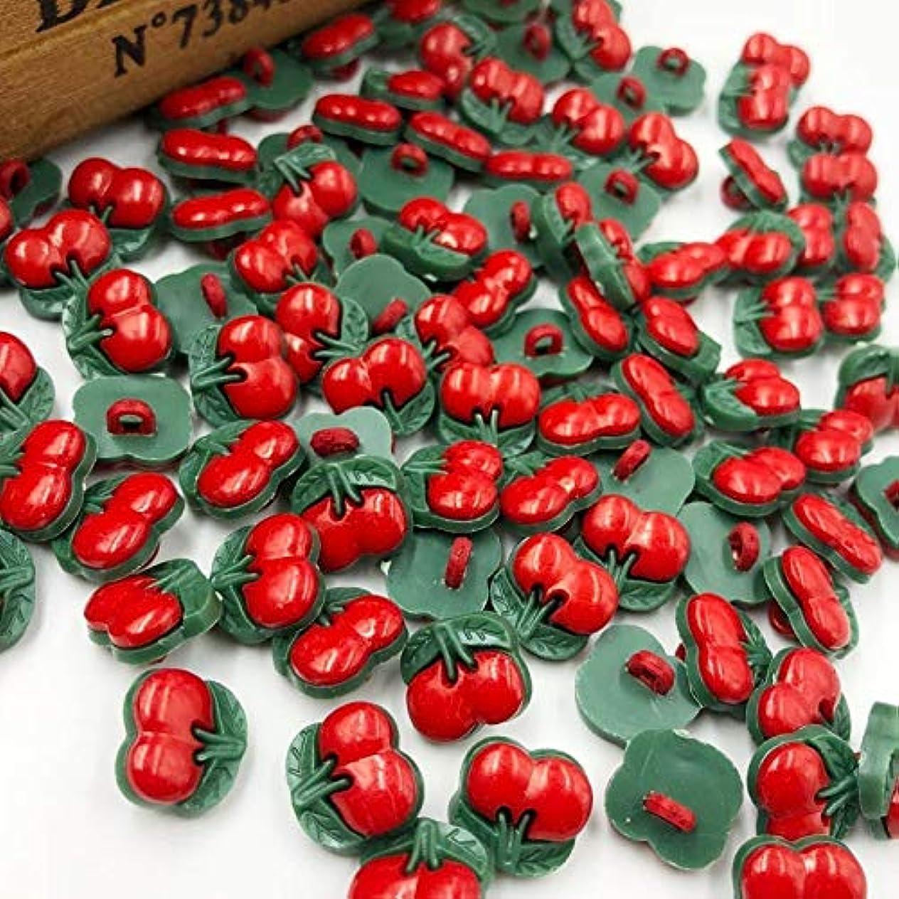 Propenary - Uは、レッドチェリープラスチックボタン縫製ボタンDIY工芸を選びます