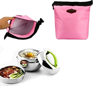 Tuscom Waterproof Picnic Bags Lunch Box,28×24×9CM Thermal Cooler Insulated Portable Tote Storage Lunch Bags (Pink)