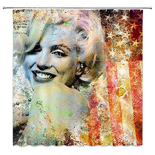 amfd Sexy Marilyn Monroe Duschvorhang Classic Film W&erschöne Star Badezimmer Decor 177,8x 177,8cm Wasserdicht Mehltau Polyester Stoff enthalten Haken Modern 70 x 70 Inches Multi 4940