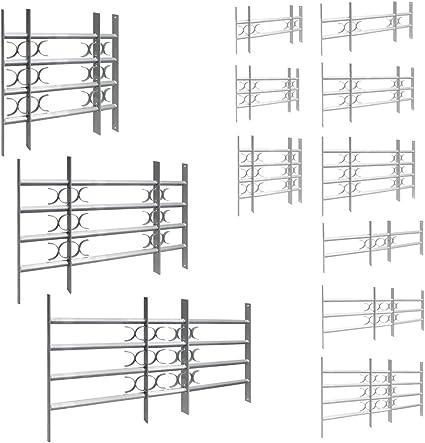 Dimensioni:30 x 50-65 cm Inferriata di Sicurezza Griglia Finestra in Ferro Protezione Prolungabile Regolabile 9 Taglias 500-1500 mm V2Aox