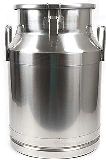 JHZDX 20L / 5.5 Gallon, 30L / 7,9 Gallon, Lait en Acier Inoxydable Can Vict-Lait Seau À Cauchée À Cautionnement De La Caut...