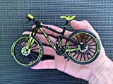 BicycleCrazy Deko Fahrrad Miniatur 1:10 (MTB Slalom gelb)