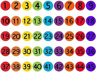 FOONEE 36 Packs Number Spot Markers, 1-36 Classroom Circles Carpet Markers, 6 Inches Floor Spots Sit Markers for Kindergarten Preschool Kids and Teachers