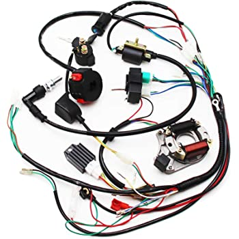 Amazon.com: Full Electrics Wiring Harness CDI Coil Magneto Stator 50cc 70cc  90cc 110cc 125cc Quad ATV Bike: AutomotiveAmazon.com