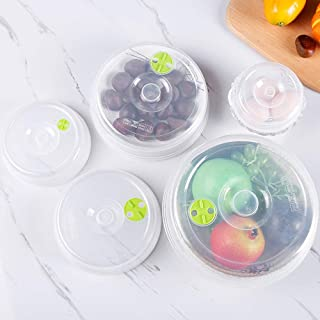 New Design 5pcs Set Plastic Seal Cover Food Storage Bowl Lid Refrigerator Crisper, Glass Microwave Bowls - Cup Bowls, Plastic Container, Vintage Food Storage Containers, Vegetable Storage