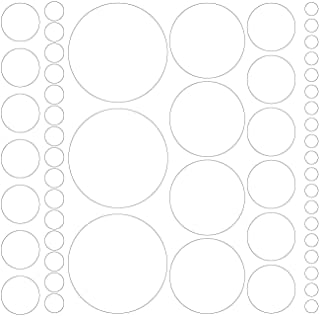 Assorted Size Polka Dot Decals - Repositionable Peel and Stick Circle Wall Decals for Nursery, Kids Room, Mirrors, and Doors (white)