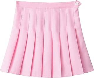 well-jump Women High Waist Cosplay Denim Solid A Line Sailor Japanese School Uniform Mini Skirts