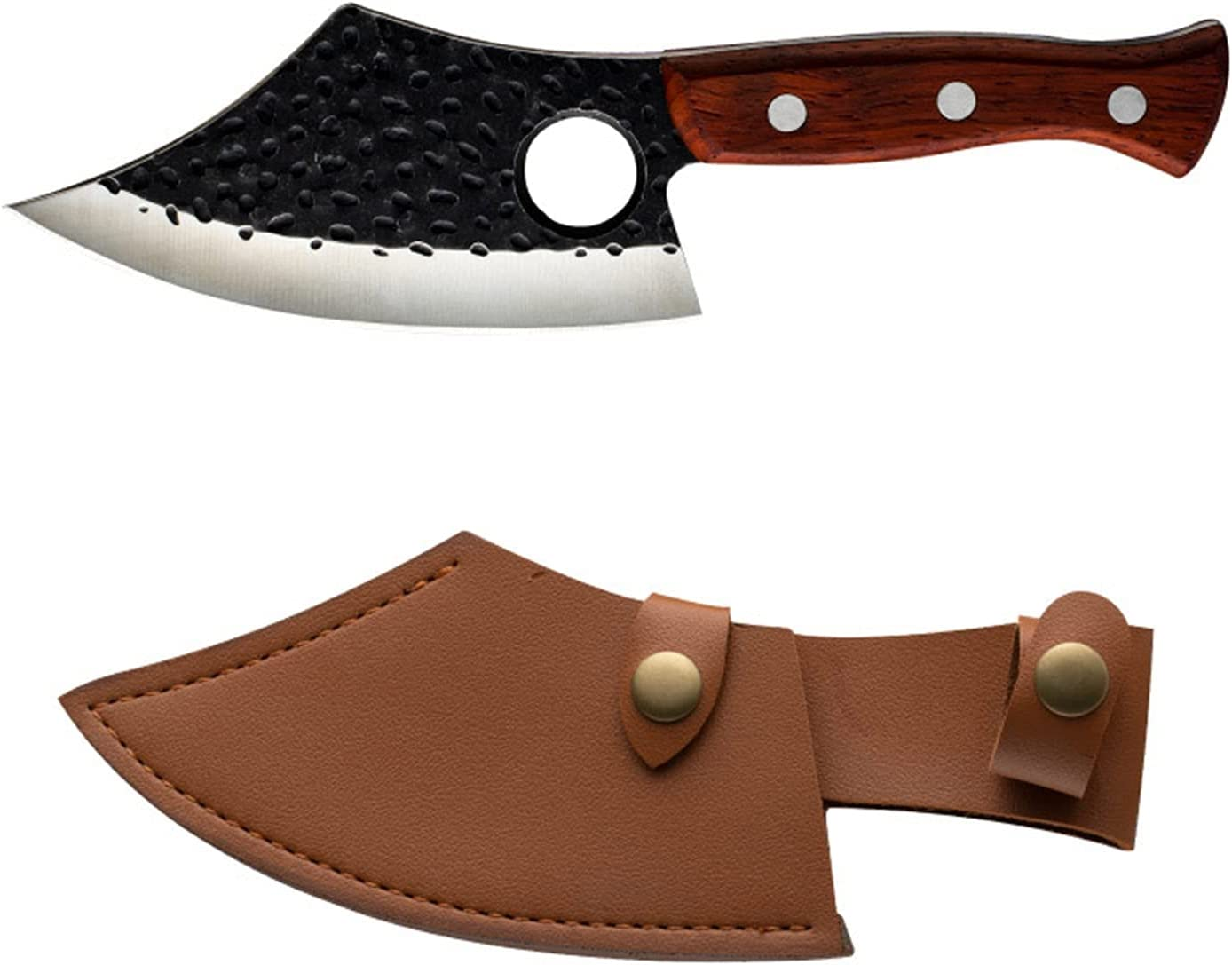 Sharp Fees free Handmade Long-awaited Forged Clad Steel Forg Kitchen Knifes Chef Boning