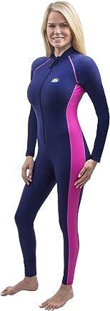 30ee3520e5c07 Women Full Body Swimsuit Stinger Suit UV Protection UPF50+ Navy Pink