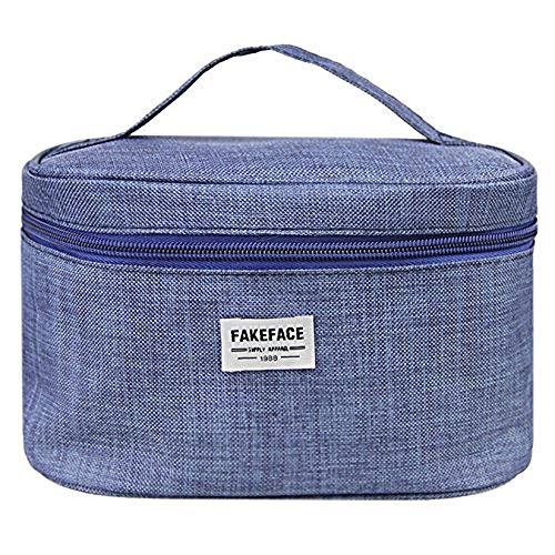 Große Reise-Make-up-Tasche, tragbare Kosmetiktasche mit Reißverschluss, Kulturbeutel, Organizer mit Griff, Waschutensilien, Mini-Handtaschen-Aufbewahrungstaschen, Socken, BH-Organizer.
