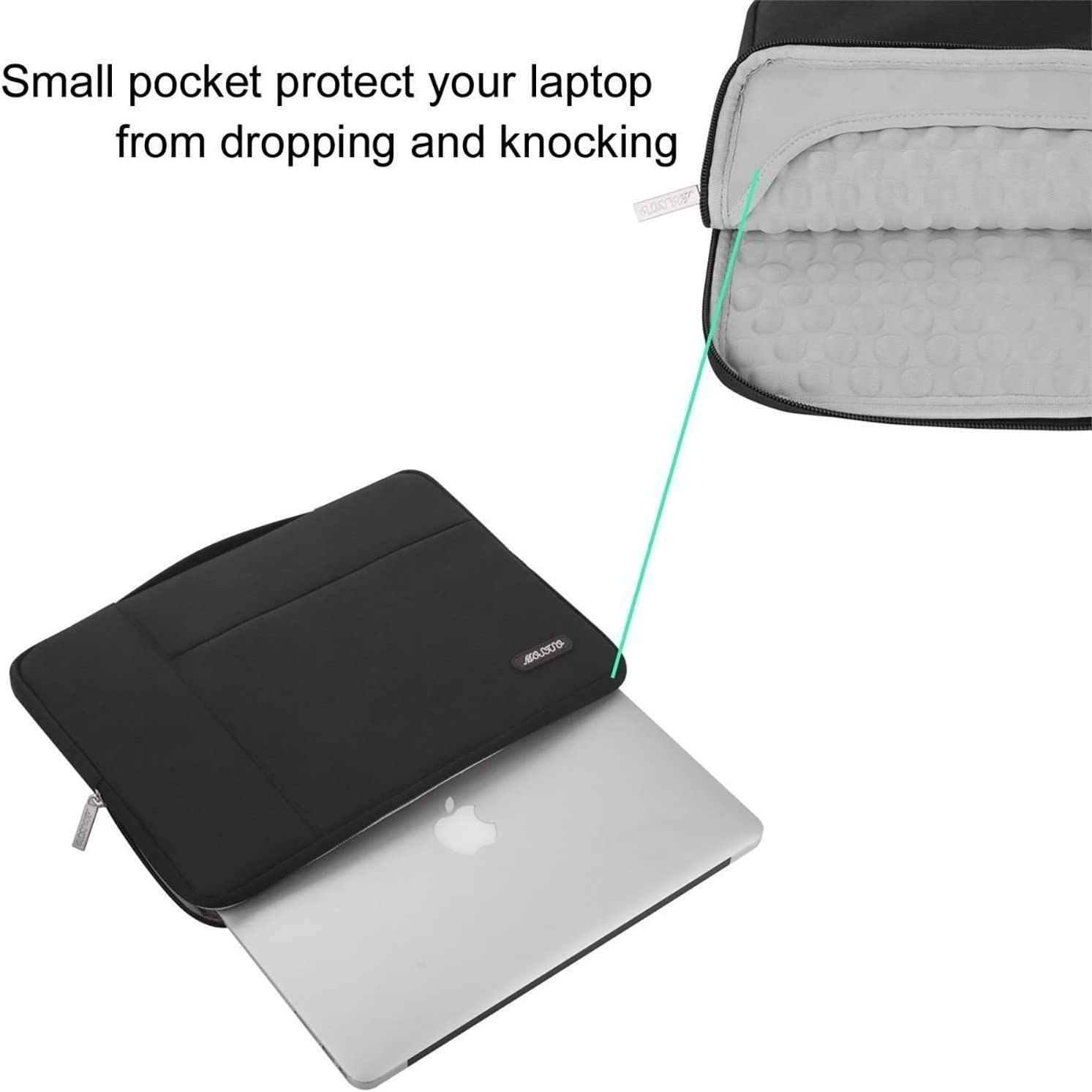 14 HP Acer Chromebook 2019 Surface Laptop 3 15 Deep Teal Polyester Multifunctional Sleeve Carrying Bag MOSISO Laptop Briefcase Compatible with MacBook Pro 15 inch Touch Bar A1990 A1707