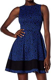 Love… Ady A-line Fit & Flare Skater Dress in Textured Knit