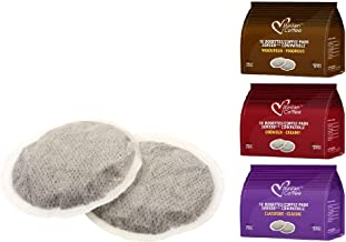 Italian Coffee pads compatible with Senseo machines (3 Flavors mix, 54 pads)