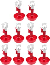 Bestonzon 10pcs Automatic Chicken Water Cup Poultry Water Feeder Duck Drinking Cups Spring Water Bowl and Clip for Chicken...