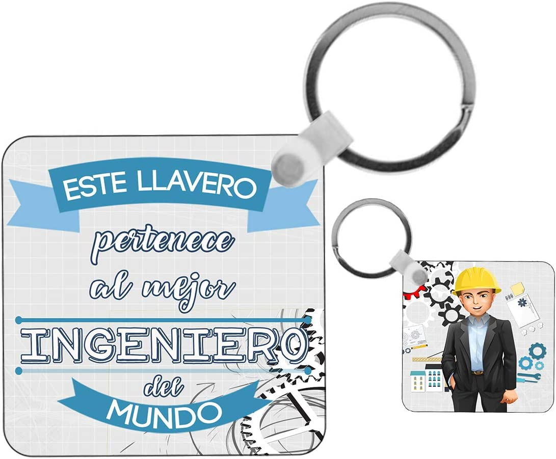 Kembilove Llavero de Ingeniero - Este Llavero Pertenece al Mejor Ingeniero del Mundo - Regalos Originales para Regalar a Trabajadores Profesionales - Regalo Origina para Ingenieros