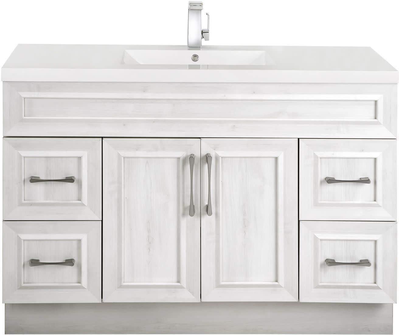 Amazon Com Cutler Kitchen Bath Classic Collection 48 Bathroom Vanity Single Bowl Top Fogo Harbor Furniture Decor