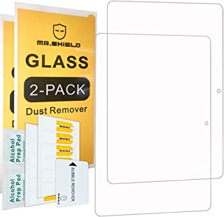 [2-Pack]-Mr.Shield for Huawei MediaPad T3 10 Inch / 9.6 Inch [Tempered Glass] Screen Protector [0.3mm Ultra Thin 9H Hardness 2.5D Round Edge] with Lifetime Replacement