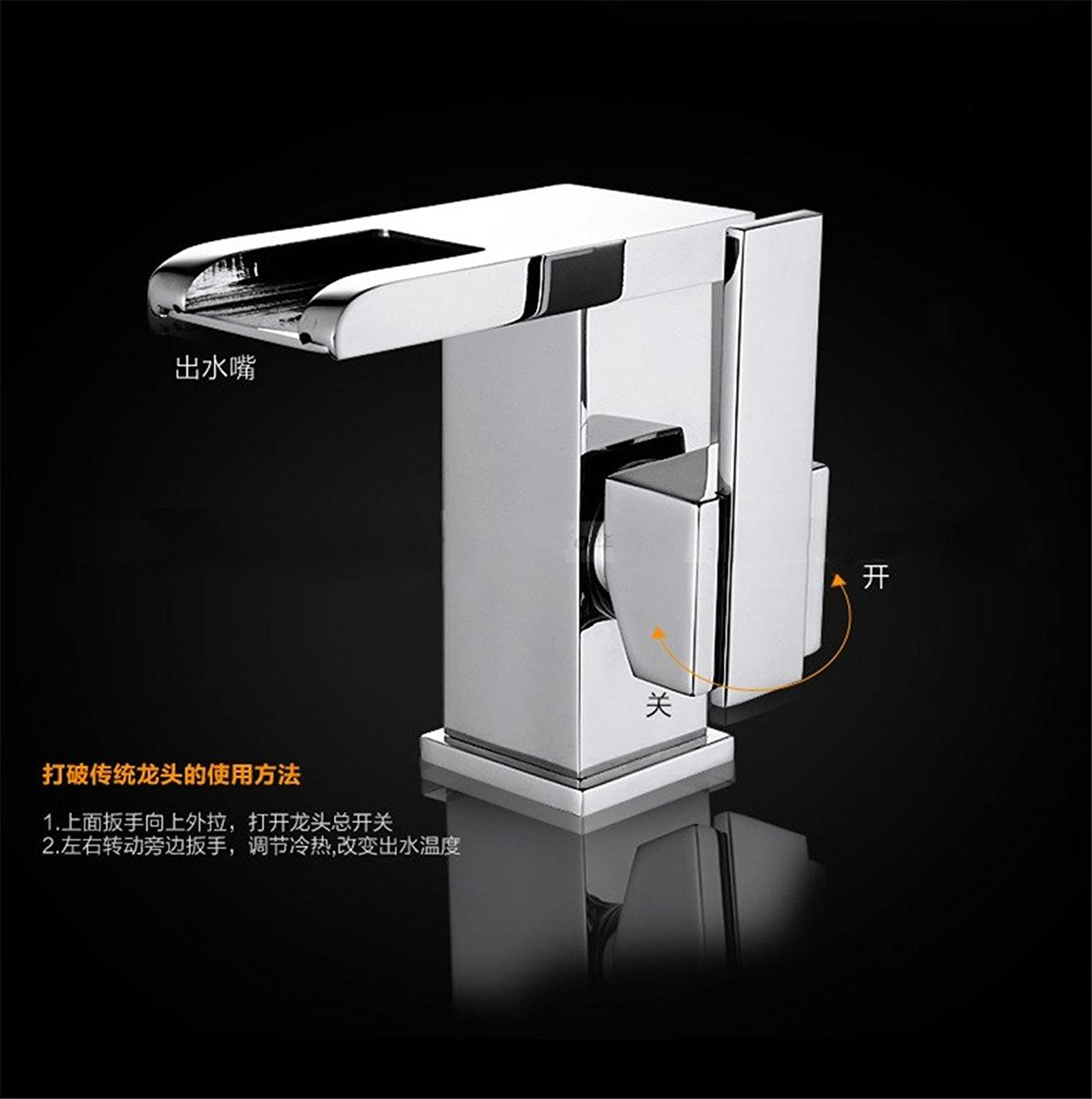 Bijjaladeva Antique Bathroom Sink Vessel Faucet Basin Mixer Tap The copper hot and cold Falls hydroelectric power LED faucet basin mixer