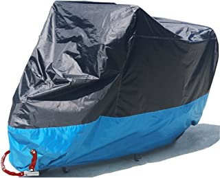 Motorcycle Cover Waterproof Motorbike Scooter Outdoor Shelter All Weather Protection Dustproof, Anti-theft, Copper Lock Holes[Never Rust], XL 90