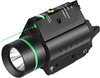 EZshoot 20mm Pistol Laser Light Combo, 200 Lumen Laser Handgun Light for Picatinny Rail, Tactical Weapon Light with Red/Gr...