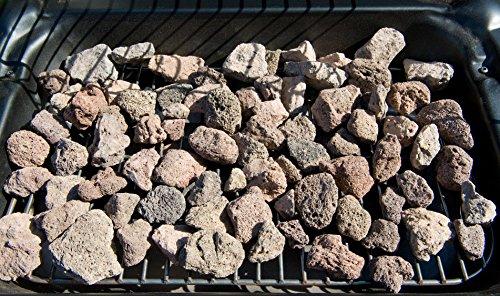 Campingaz Xpert 200 LS Rocky Barbacoa gas piedra volcanica, parrilla gas con 2 quemadores compactos, 8.2 kW de potencia, 2 parrillas de hierro fundido, 2 mesas laterales y carro de acero