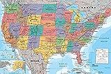 Close Up USA Landkarte Poster (91,5cm x 61cm) + Ü-Poster