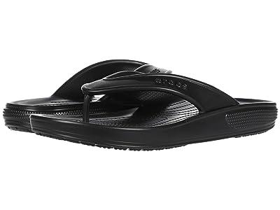Crocs Classic II Flip (Black) Shoes
