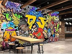 XZCWWH 3D Wallpaper Photo Wallpaper Custom Mural Living Room Cartoon Letter Graffiti 3D Painting Picture Sofa Tv Background Wallpaper,350Cm(W)×256Cm(H)