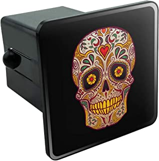 Graphics and More Skull Day of The Dead Southwestern Tow Trailer Hitch Cover Plug Insert 2