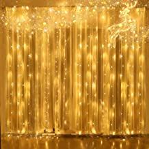 Christmas Lights New LED Window Curtain Lights,Outdoor Twinkle String Of Lights, Lights For Bedroom Fairy Lights For Indoor Wall Decor , Holiday Party Birthday Christmas Wedding Decorations Warm White