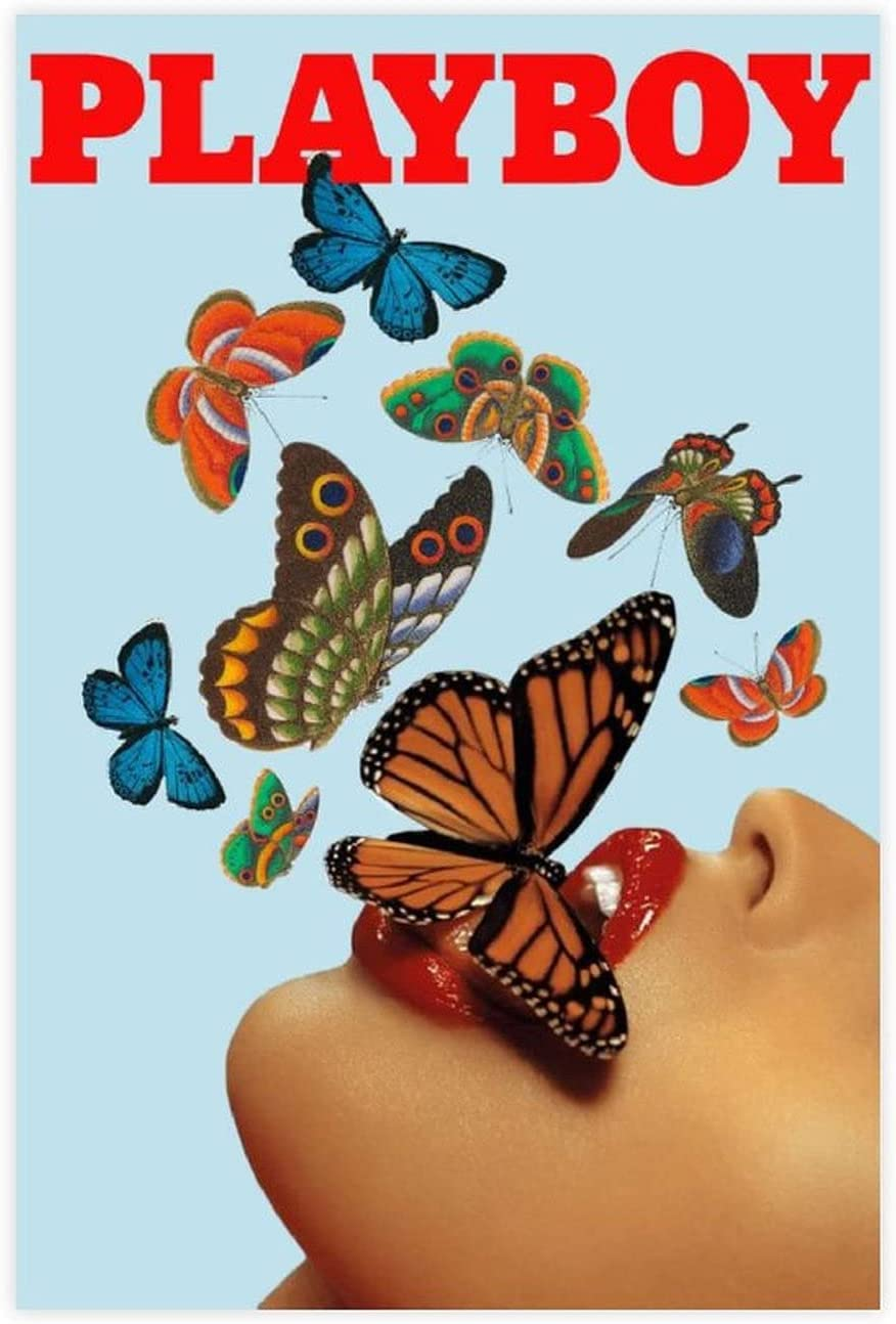 Aesthetic Room Decor Posters Playboy Nippon regular agency Max 60% OFF Canvas Butterfly Pos Poster