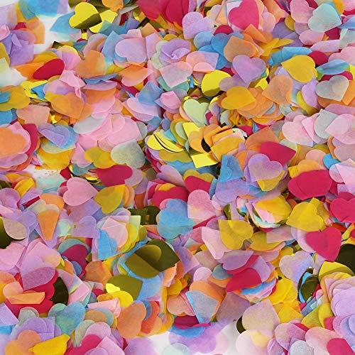 Vegena 6000 Piezas de Confeti de Corazón, 25mm Confeti Boda Papel de Corazón Party Circle Paper Table Confetti Confeti de Mesa para Decoración de Fiesta,Boda, Cumpleaños, Baby Shower