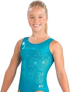 GK Girls Blue Sparkle Sequins Gymnastic Leotard One Piece