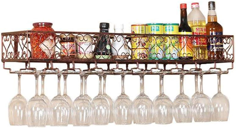 Envío 100% gratuito Botelleros Estantes del del del Vino Armarios de Vino Colgante de Parojo de Metal Montado Vino Champán Copas de Vidrio Stemware Estante Enganche Listo para Montar (Tamaño   60CM)  protección post-venta